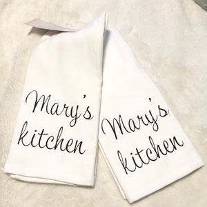 🆕Set of 2 Personalized MARY'S KITCHEN Towels